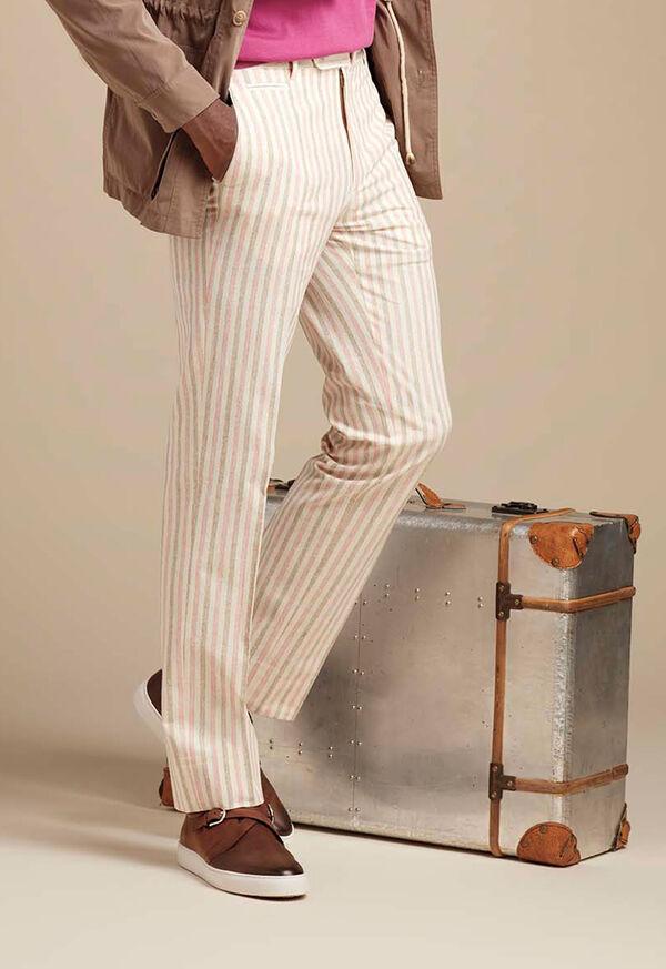 Pink & Mink Stripe Cotton Pant, image 2