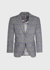 Purple Plaid Cashmere Sport Jacket, thumbnail 1