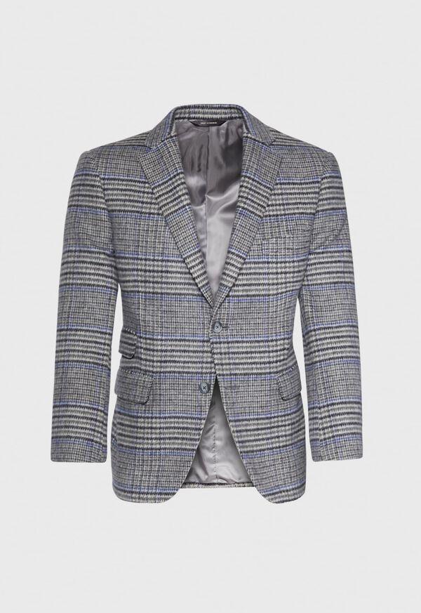 Purple Plaid Cashmere Sport Jacket, image 1