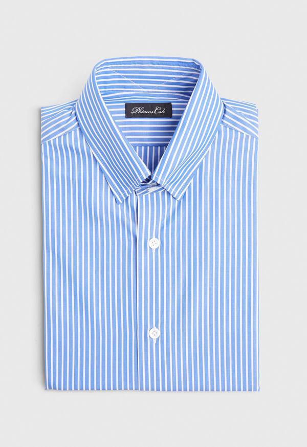 Blue and White Stripe Dress Shirt
