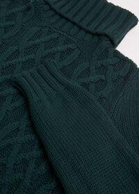 Cashmere Aran Cable Knit Turtleneck, thumbnail 2