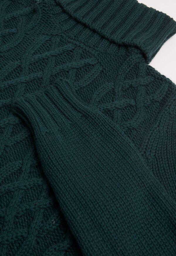 Cashmere Aran Cable Knit Turtleneck, image 2