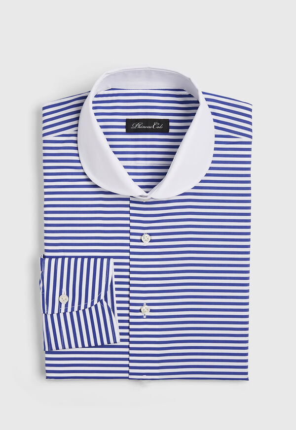 Blue Horizontal Stripe Dress Shirt
