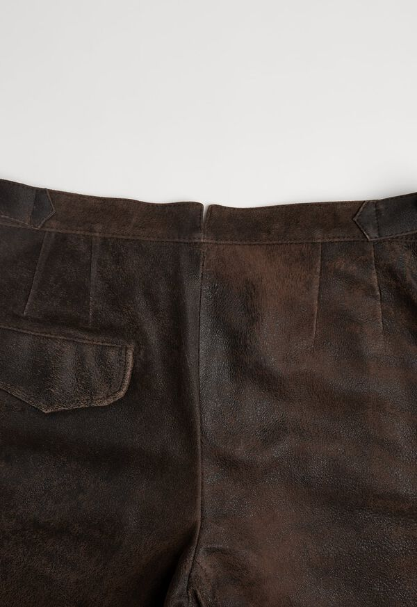 Brown Vintage Leather Pant, image 4
