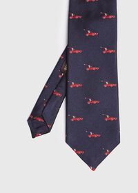 Navy Santa Holiday Tie, thumbnail 1