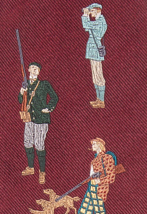 Burgundy Hunter Silk Tie, image 3