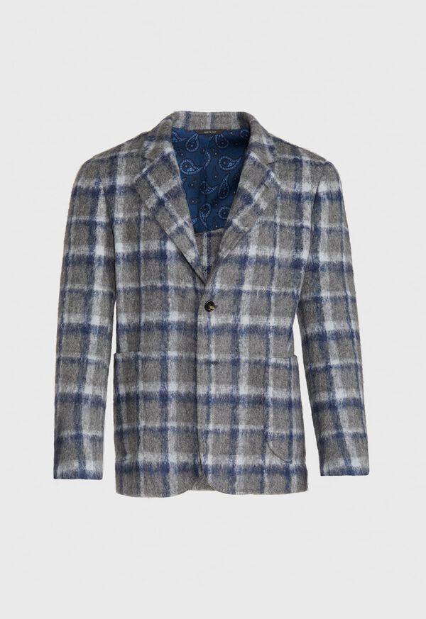Grey Plaid Blazer, image 1