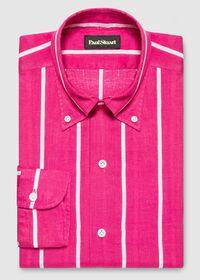 Linen Striped Sport Shirt, thumbnail 1