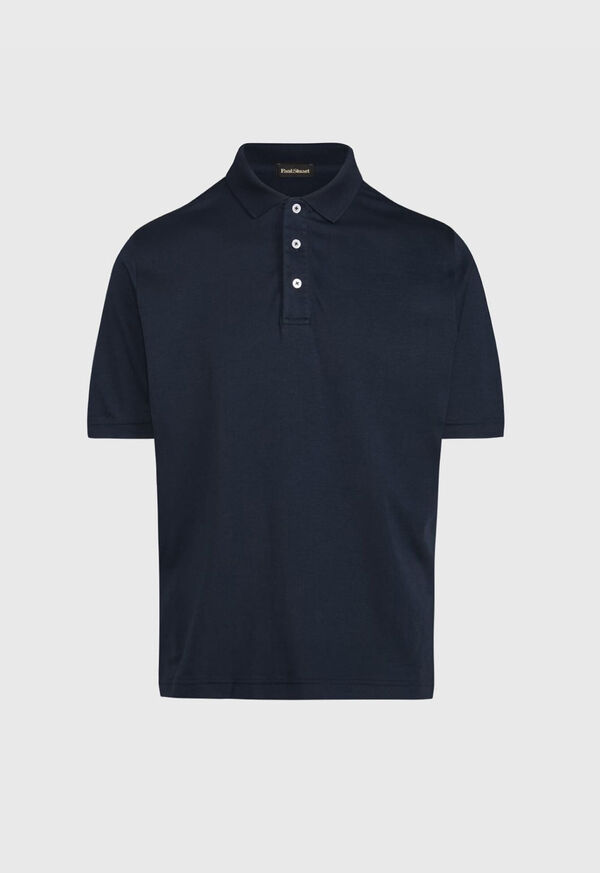 Pima Cotton Interlock Polo, image 1