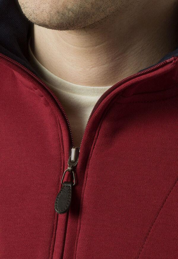 Pima Cotton 1/2 Zip Sweater, image 4