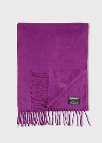 Cashmere Solid Color Scarf with Embroidered Logo, thumbnail 1