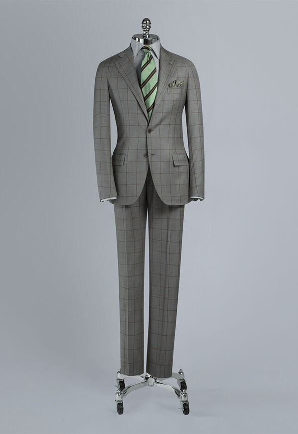 Wool Windowpane Suit, image 1