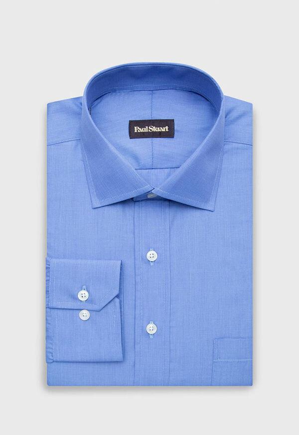 Cotton End On End Dress Shirt, image 1