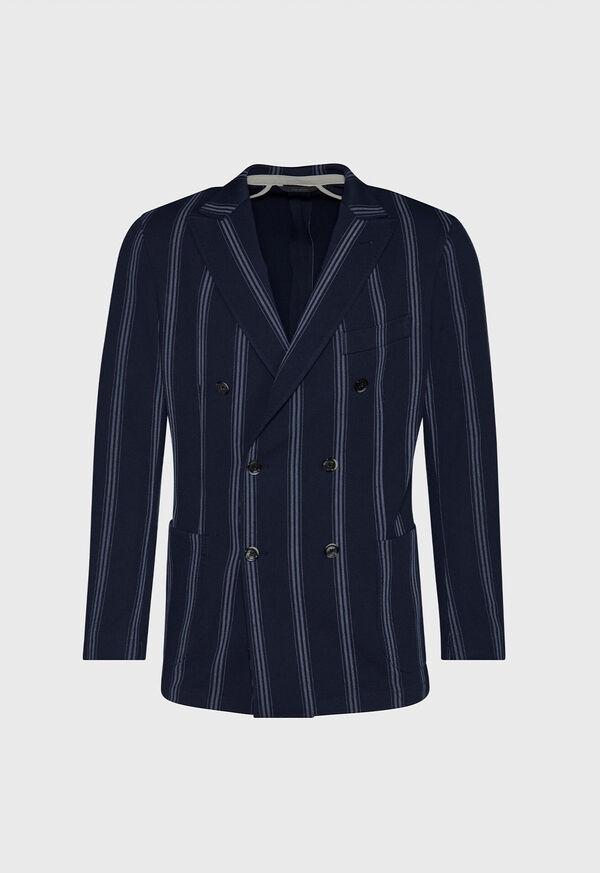 Navy/White Deco Stripe Soft Jacket, image 1