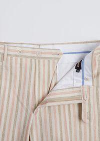 Pink & Mink Stripe Cotton Pant, thumbnail 4