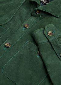 Solid Green Suede Shirt, thumbnail 2