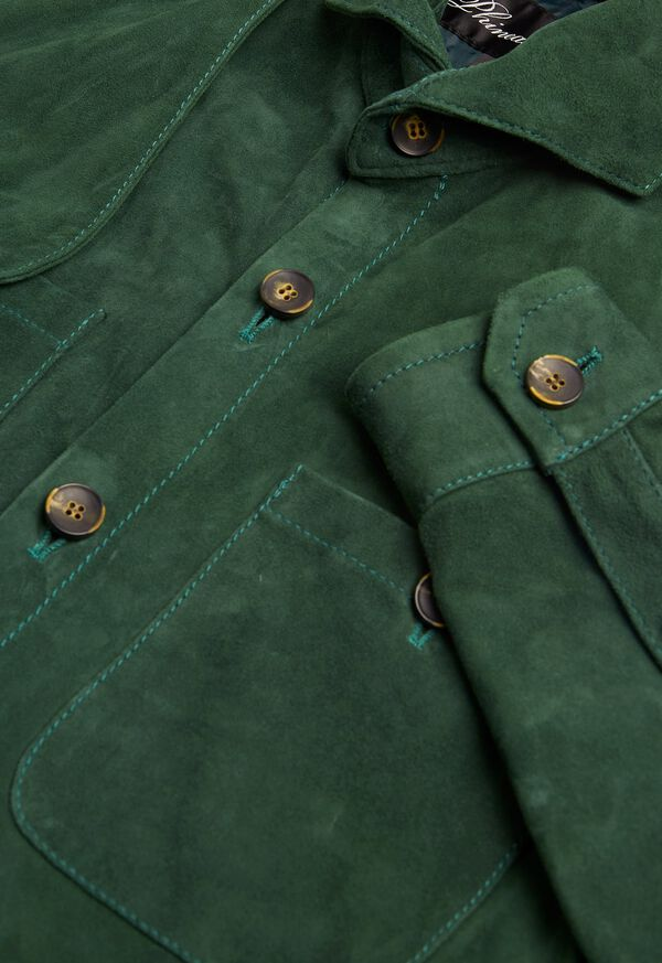 Solid Green Suede Shirt, image 2