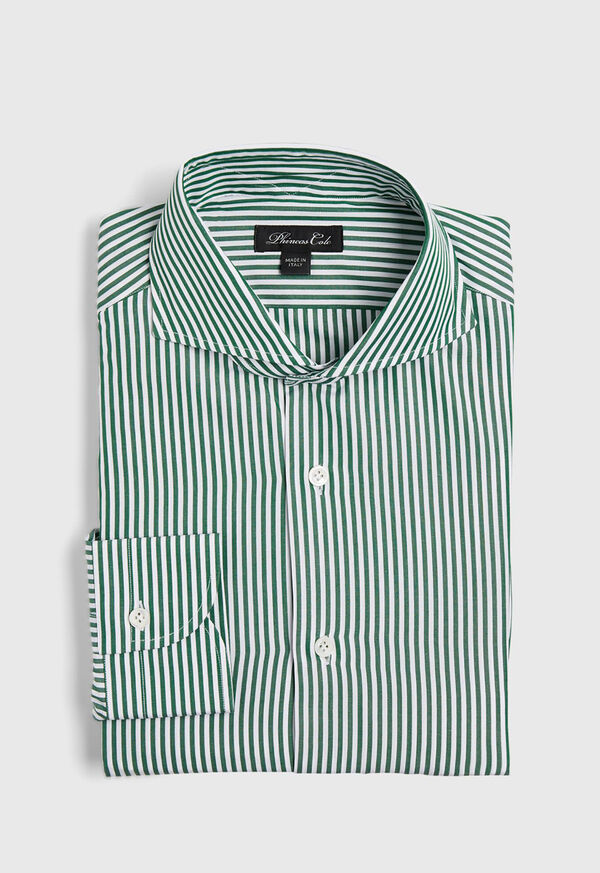 Cotton Stripe Collar Dress Shirt, image 1