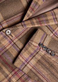 Oatmeal and Rose Wool Blend Plaid Sport Jacket, thumbnail 3