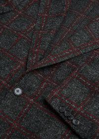 Single Breasted Plaid Soft Jacket, thumbnail 2