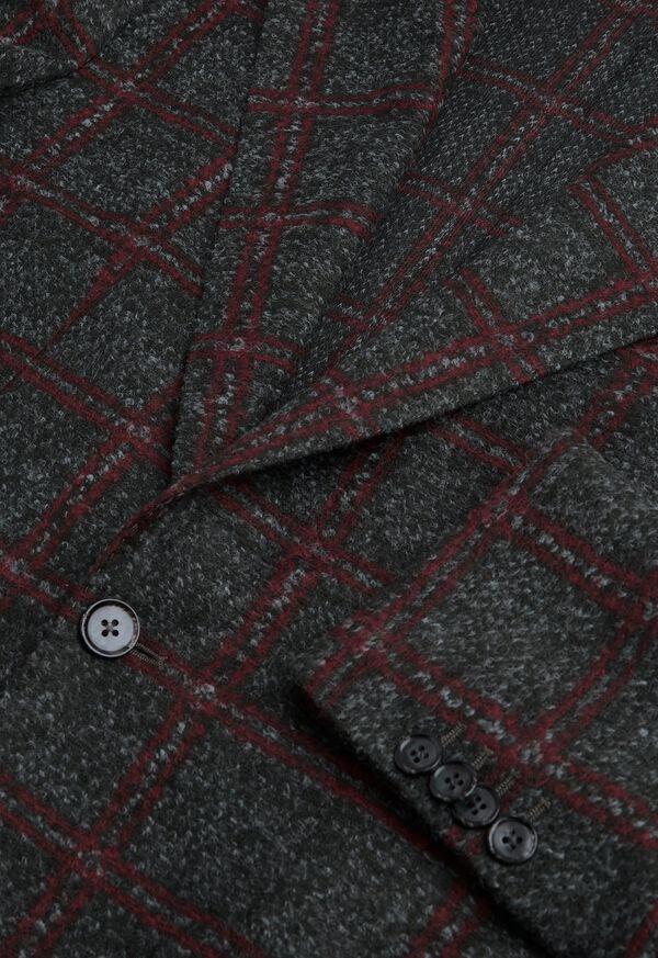 Single Breasted Plaid Soft Jacket, image 2