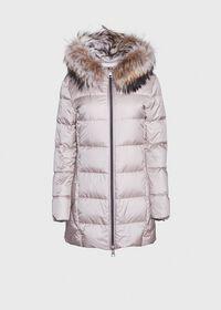 Puffer Coat with Fur Trim, thumbnail 1