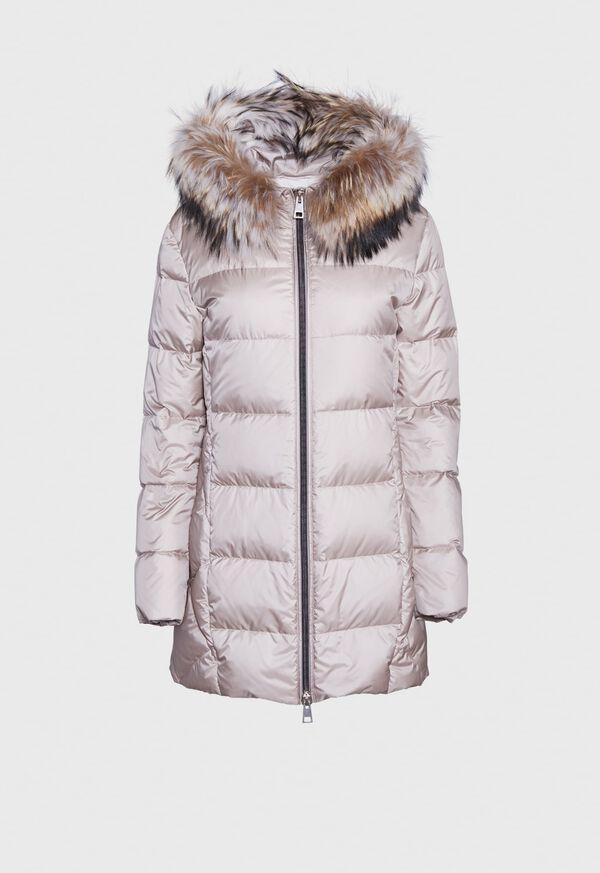 Puffer Coat with Fur Trim, image 1