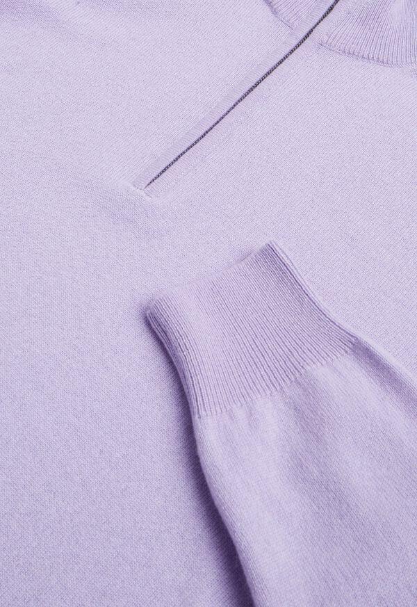 Cashmere 1/4 Zip Mock Neck Sweater, image 2