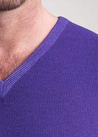 Washed Rice Stitch V-Neck Sweater, thumbnail 2
