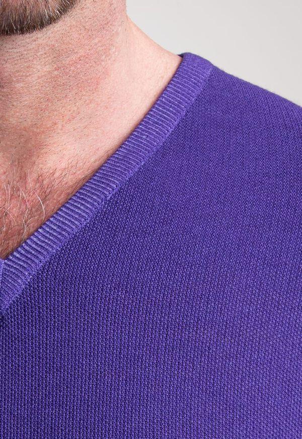 Washed Rice Stitch V-Neck Sweater, image 2