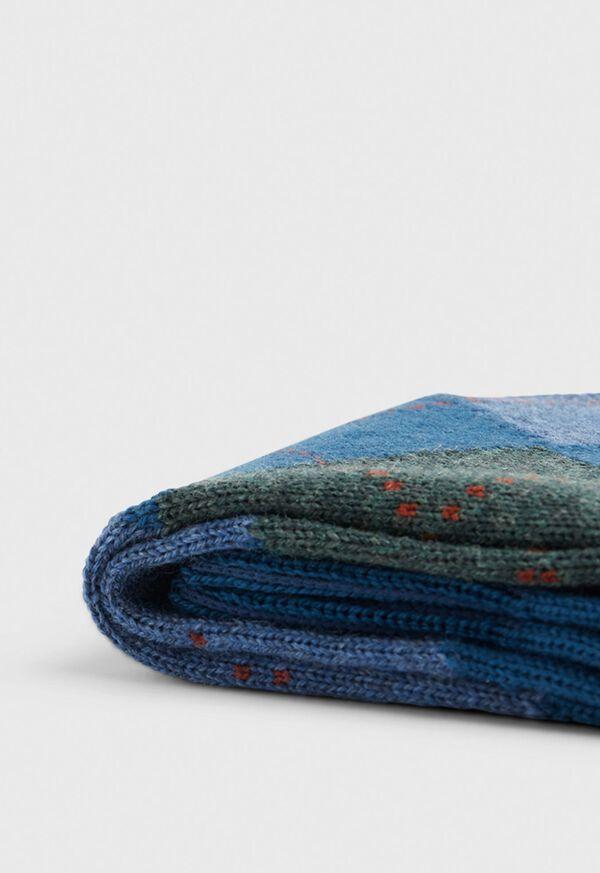 Wool Blend Argyle Sock, image 2