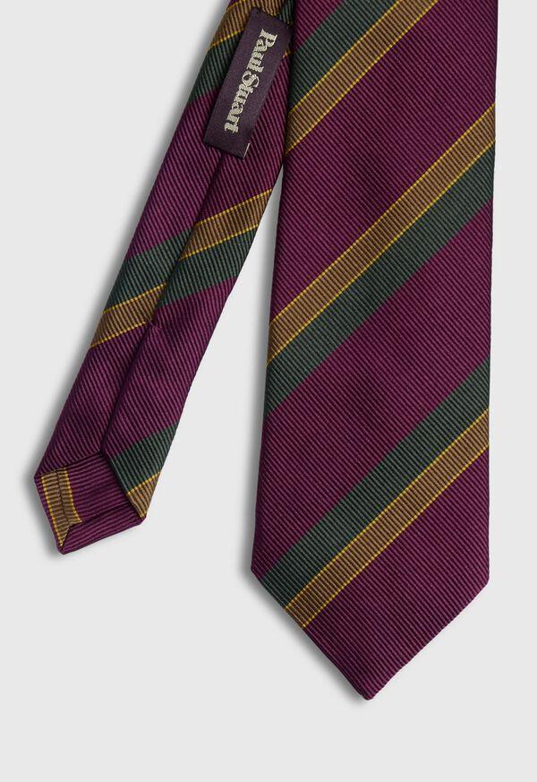 Tricolor Stripe Tie, image 1