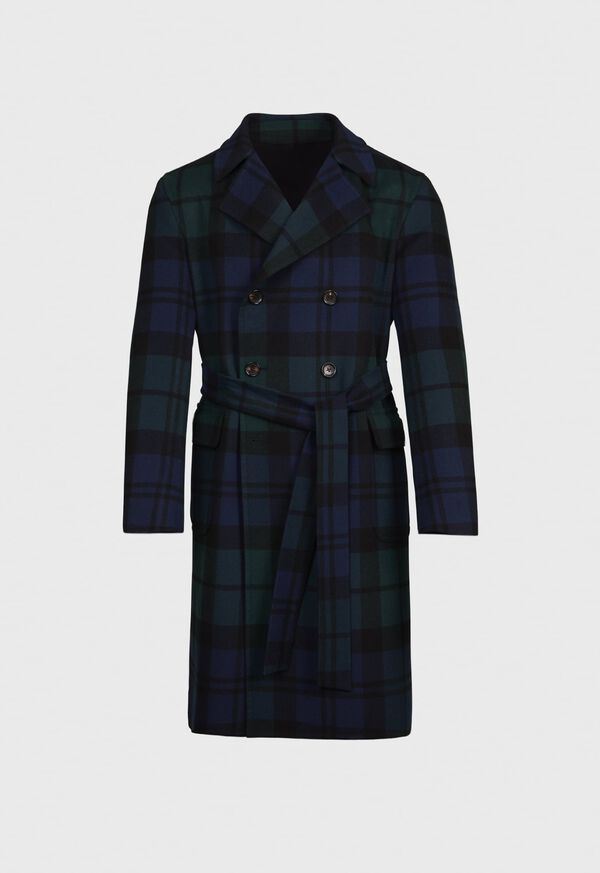 Plaid Double Face Overcoat