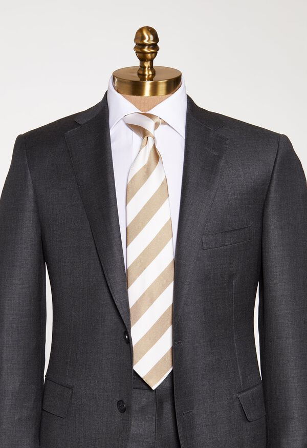 Thick Striped Tie, image 2