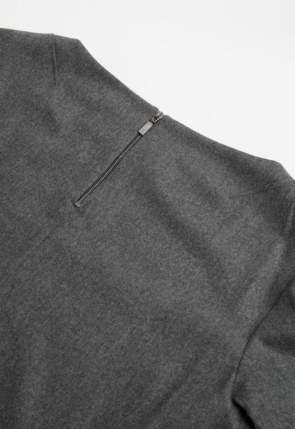 Flannel Zip Back Top, image 2