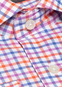 Cotton Check Pattern Sport Shirt, thumbnail 2