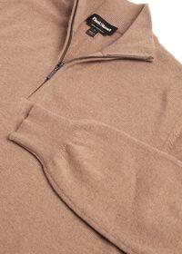 Cashmere Quarter Zip Mock Sweater, thumbnail 2
