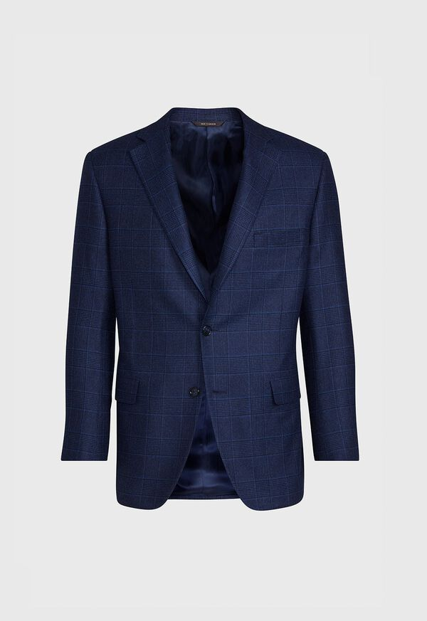 Navy Plaid Sport Jacket, image 1