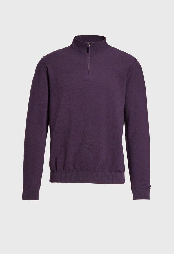 Rice Stitch Quarter Zip Sweater, image 1