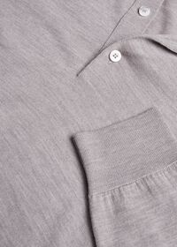 Long Sleeve Cotton Polo, thumbnail 4
