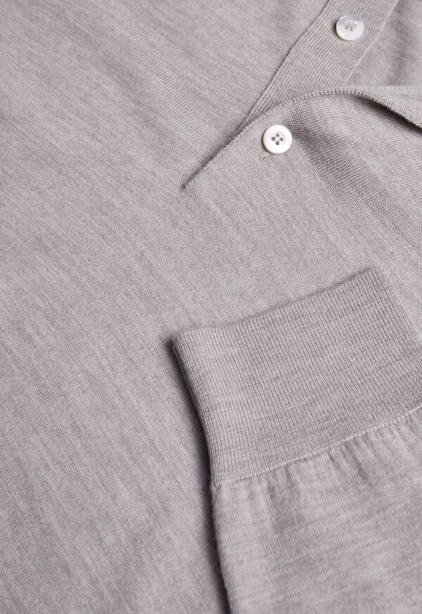 Long Sleeve Cotton Polo, image 4