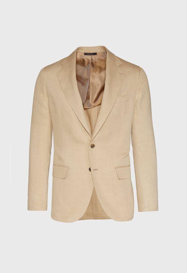 Tan Linen Blend Suit, image 2