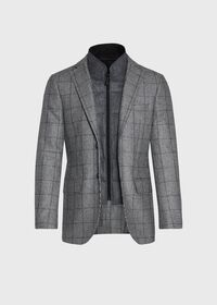 Houndstooth Travel Jacket and Built-in Vest, thumbnail 5