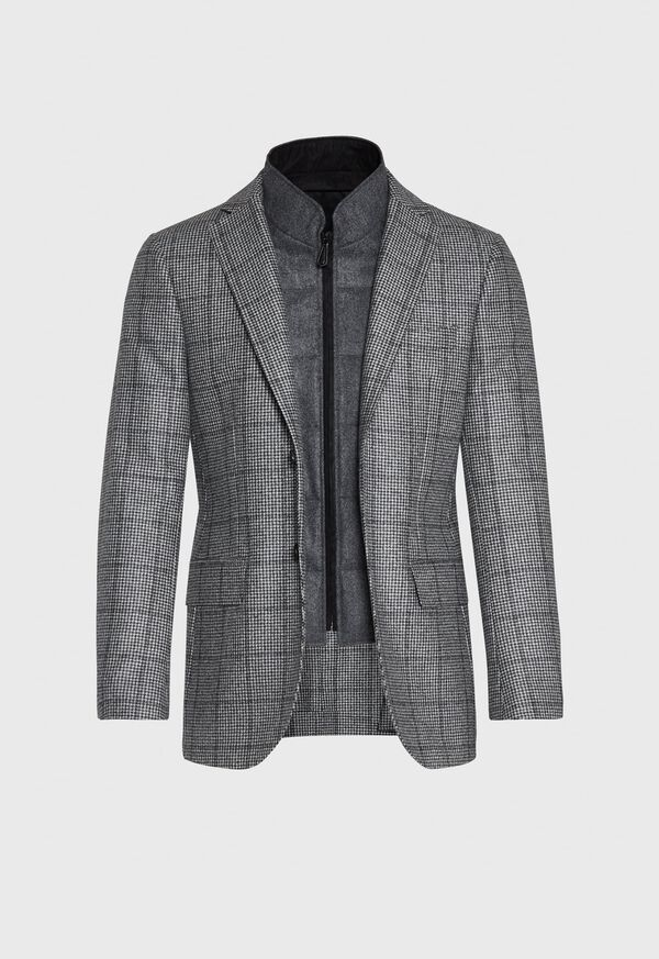 Houndstooth Travel Jacket and Built-in Vest, image 5