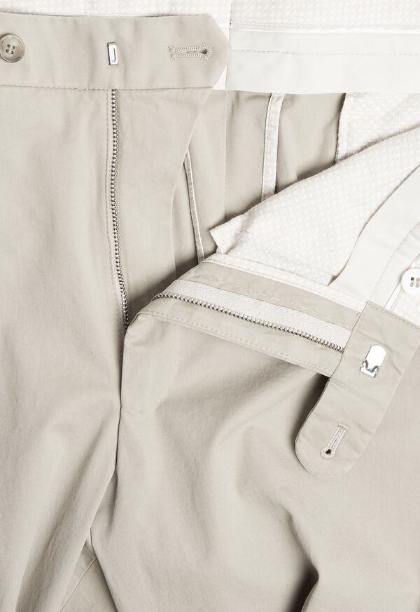 Khaki Cotton Stretch Pant, image 2