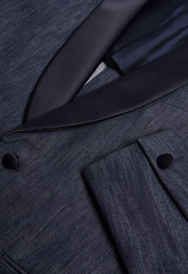 Denim Single Breasted Formal Jacket, image 3