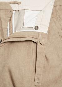 Khaki Linen Blend Short, thumbnail 2