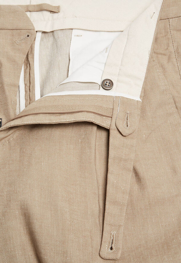 Khaki Linen Blend Short, image 2