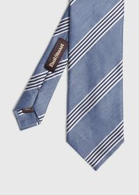 Silk and Linen Stripe Tie, thumbnail 1