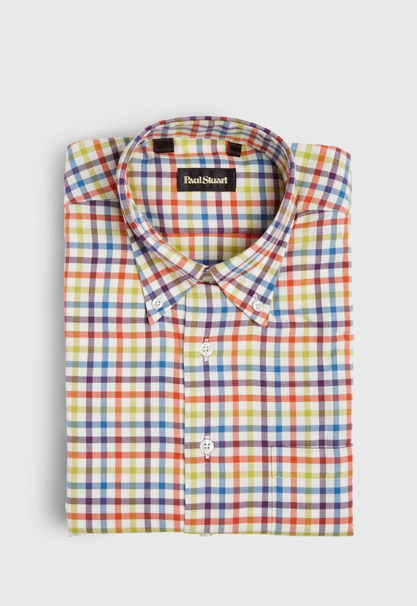 Brushed Flannel Check Sport Shirt